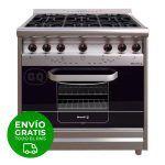 Cocina Industrial Morelli Country 900 6h Multigas Acero Inox
