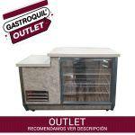 heladera mostrador y espacio cortadora